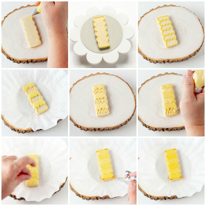 sugar cookies, french fries, french fry cookies, National French Fry Day, The Bearfoot Baker, royal icing, decorated sugar cookies, cookie decorating