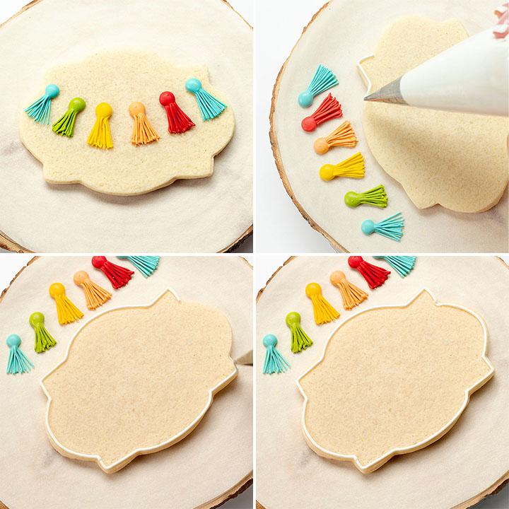 sugar cookies, birthday cookies, tassel cookies, the bearfoot baker, royal icing, sugar cookies, cookie tutorial, decorated cookies, cookie decorating