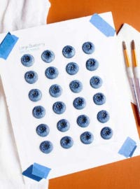 blueberry cookie decorations, blueberry, free pattern, the bearfoot baker, royal icing transfers,