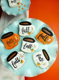 The Bearfoot Baker, fall, fall cookies, coffee, coffee cup