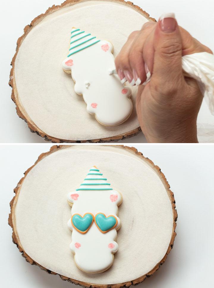 The Bearfoot Baker, Ice Cream Cone Cookie Cutter, Llama Cookies, Sugar Cookies, Royal Icing