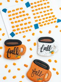 pumpkin, royal icing transfers, The Bearfoot Baker, cookie decorations, sugar cookies, royal icing