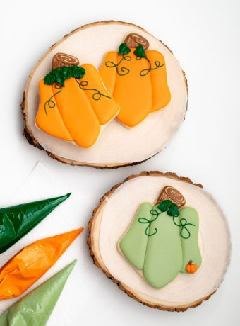 The Bearfoot Baker, pumpkin cookie, house cookie, shift cutters, royal icing, sugar cookies