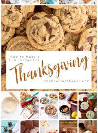 Thanksgiving food, Thanksgiving, Snacks, cobbler, trail mix, dump cake, turkey legs, rice krispies, Gooey Bar, Chocolate Chip Cookies, DIY Pie Crust, Thin Mints, Popcorn, cupcakes