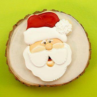 Santa cookies, The Bearfoot Baker, Christmas Cookies, Christmas, Santa Sugar Cookie, Sugar Cookie, Royal Icing