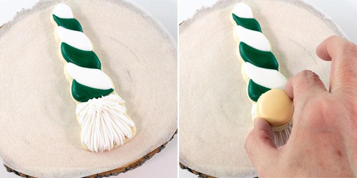 royal icing, The Bearfoot Baker, St. Patrick's Day Cookies, St. Patrick's Day Gnome Cookies