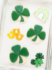 Shamrock Sugar Cookies, St. Patrick's Day, St. Patrick's Day Cookies, The Bearfoot Baker, Sugar Cookies, Royal Icing, Edible art