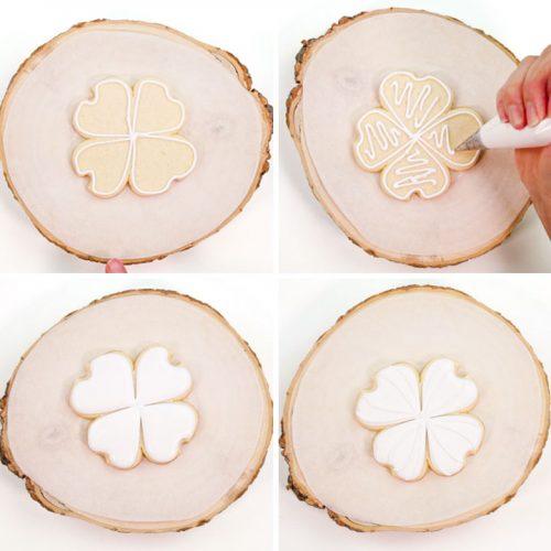 The Bearfoot Baker, dogwood, dogwood flowers, flower cookies, sugar cookies, royal icing, spring, dogwood cookies