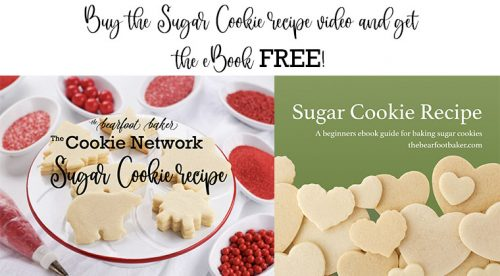 sugar cookie recipe, ebook, royal icing, royal icing video, how to, the bearfoot baker
