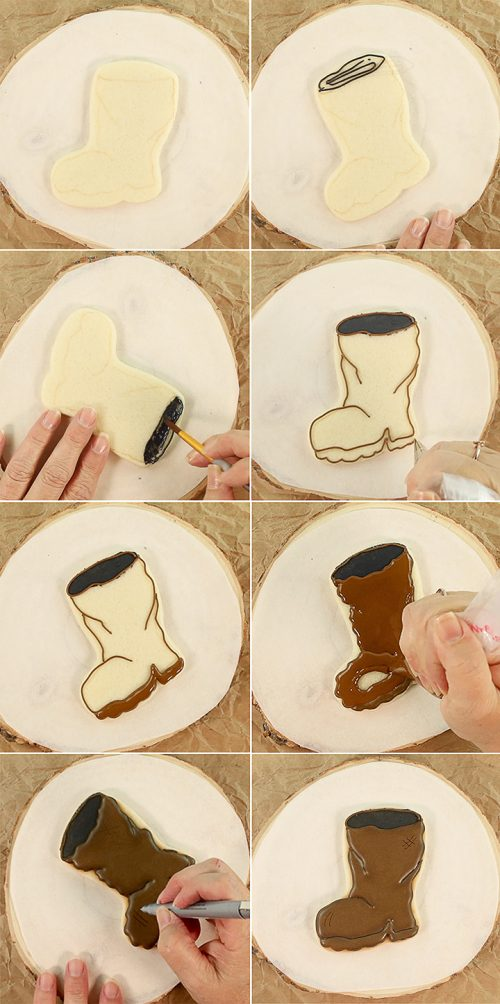 Father's Day Cookies, fishing, fishing cookies, sugar cookies, royal icing, Father's Day, boot cookies