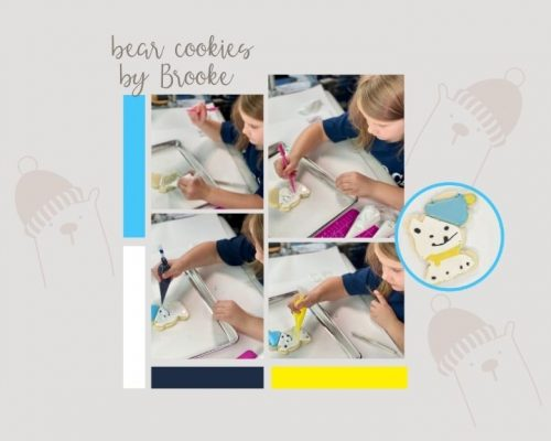 Bear Cookies, polar bear cookies, Christmas Cookies, sugar cookies, royal icing, the Bearfoot Baker