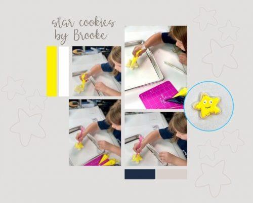 star cookies, Christmas Cookies, sugar cookies, royal icing, the Bearfoot Baker