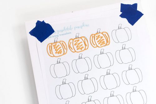 royal icing transfers, pumpkin, fall, the bearfoot baker