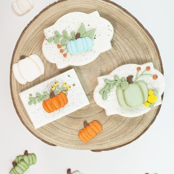 royal icing transfers, pumpkins, free pumpkin, The Bearfoot Baker, sugar cookies, royal icing