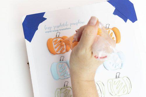 The Bearfoot Baker, Free Royal Icing Pumpkin Patterns