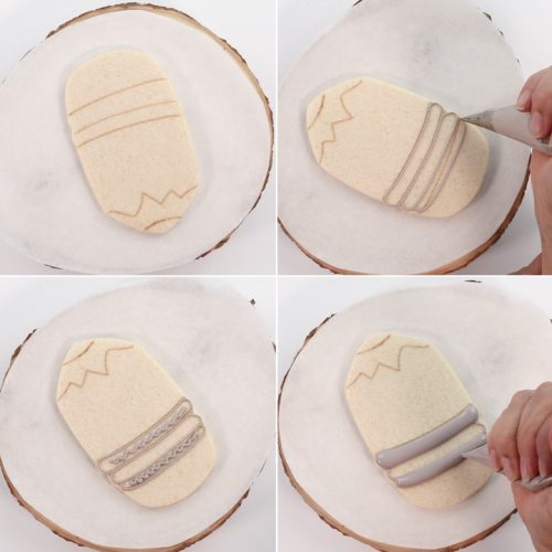 The Bearfoot Baker, Sugar Cookies, Royal Icing, Pencil Cookies, Airbrushed Cookies